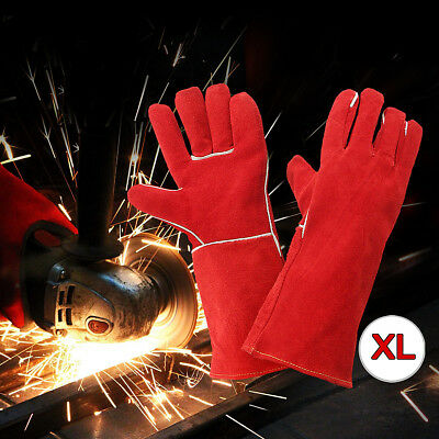 AU Welding Gloves Long Lined Welder Gauntlet Fire High Temperature Stove Protect