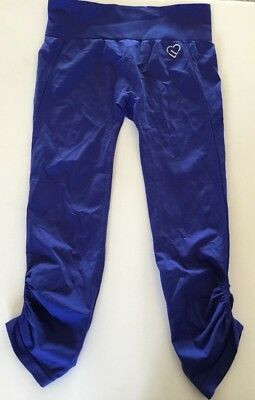 77ae185b83950 Aeropostale Live Love Dream Leggings Purple Cropped Stretch Pant Ruched Sz  Large