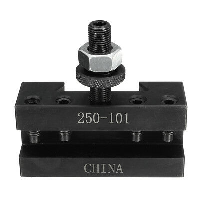 Quick Change CNC Turning & Facing Lathe Tool Post Steel Holder 250-101 Black AU