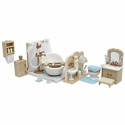 Sylvanian Families Cottage Bathroom Set Boxed Complete Hardly Used Excellent
