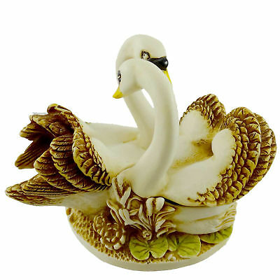 Harmony Kingdom PILLOW TALK (SWANS) Crushed Marble Romance Annual Love TJSER97