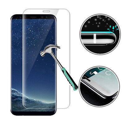 For Samsung Galaxy S8 3D Full Curved Tempered Glass LCD Screen Protector Clear