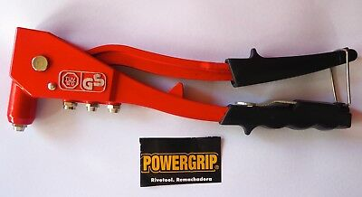 POWERGRIP  250mm  RIVET GUN Sturdy all metal construction with 4 nozzles