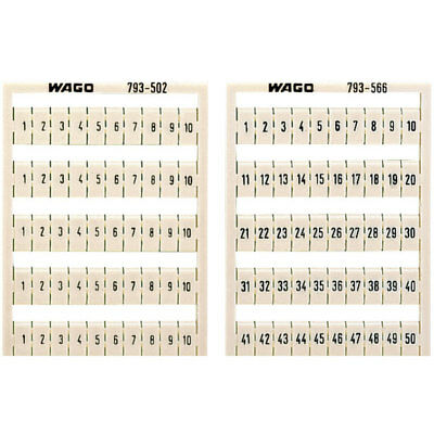 WAGO 793-3505 WMB Multiple Marking System Horizontal Marking 31 ... 40 10x White