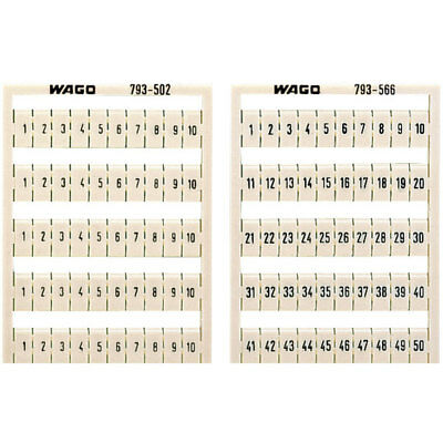WAGO 793-5570 WMB Multiple Marking System Horizontal 61 ... 70 10x, white