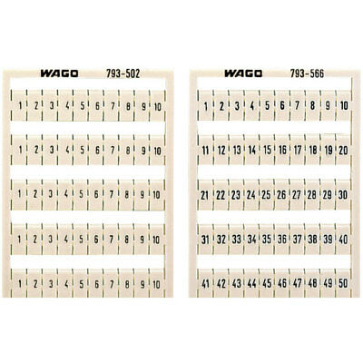 WAGO 793-5605 WMB Multiple Marking System Vertical 31 ... 40 10x, white