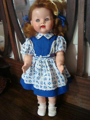 "Beautiful Vintage Hard Plastic 21"" Saucy Walker  Doll by IDEAL TOY CORPORATION."