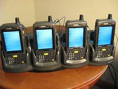 Symbol Motorola Mc7004-Pkcdjqha70R Lot Of 4+Ethernet Cradle Kit 2-D Barcode Mc70