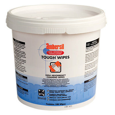 Ambersil 30767-AC Toughwipes - Tub of 100