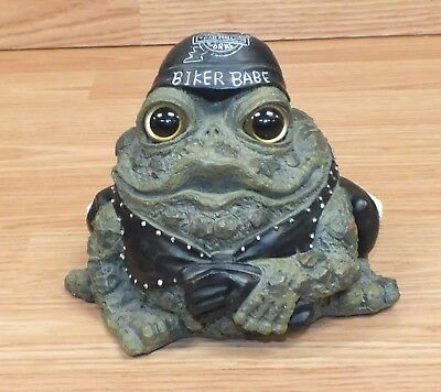 Toad Hallow Cycle Works Biker Babe Collectible Frog Figurine Only **READ**