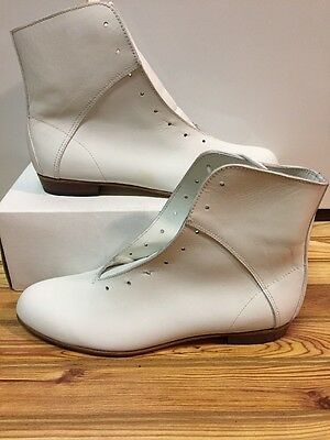 High Country, Size 8.5B WOMENS Clogging Tap Dance boots, Shoes, (no Taps) WHITE