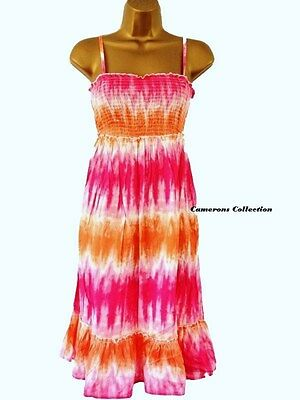 BARGAIN - Ladies/Teenager Strappy OR Strapless Beach Cover-Up Dress Size 12