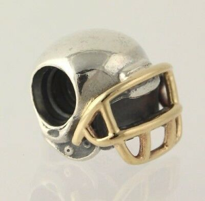 96936f8f9 ... discount code for authentic pandora football helmet sterling and 14 kt  charm retired 790570 e9a6f c1b63 ...