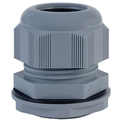 Alpha Wire PPC11 SL080 PG11 Slate Dome IP68 Cable Gland Pck of 10