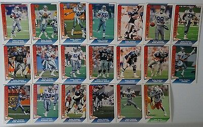 1991 Pacific Dallas Cowboys Team Set of 20 Football Cards