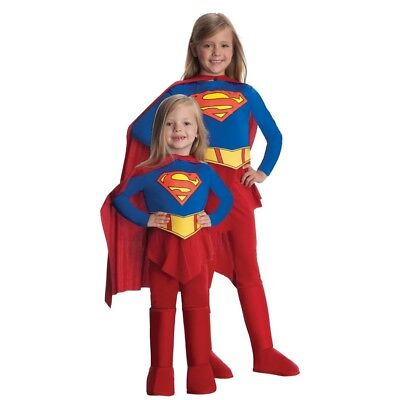 Dlx. Supergirl S - Costume Dres Kid Superhero Fancy Girl Jumpsuit Style Small