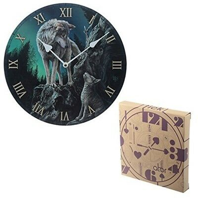Guidance Wolf Design Picture Clock - Wall Decorative Fantasy Clocks Gothic