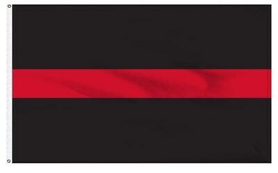 THIN RED LINE Firefighter Memorial Flag 3x5 ft Lightweight Print Polyester