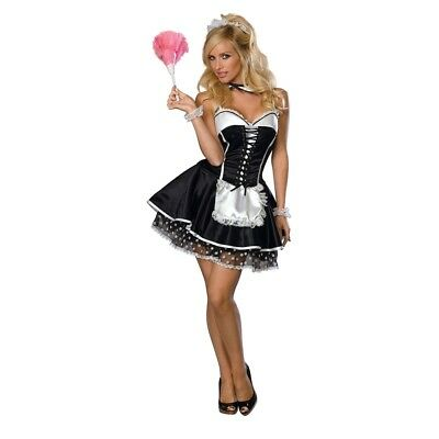 Sexy Maid S - French Secrect Wishe Adult Fancy Dres Costume Black Small