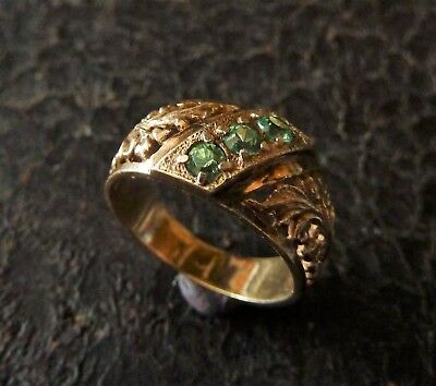 Vintage gilded silver ring 925 probe (337).