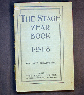 The Stage Yearbook 1918 London British American Plays News Wartime WWI