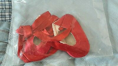 14 inch red satin ballerina shoes for that Madame Alexander by premier