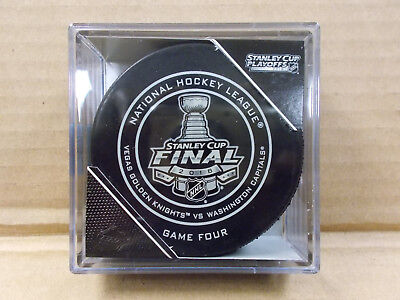 2018 STANLEY CUP FINAL - Official AUTHENTIC Game 4 Puck NHL Vegas Vs. Capitals