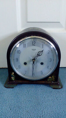 Beautiful Vintage Bakelite Smiths Enfield Mantel Clock with oriental design