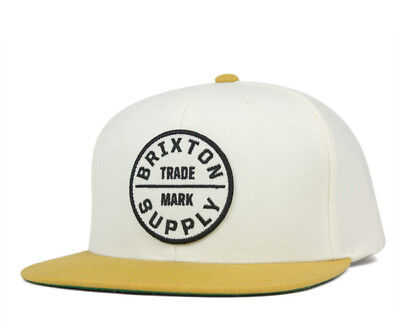 BRIXTON MENS OATH III Snapback Hat Off White Gold Size One Size New ... fdc8d1601429