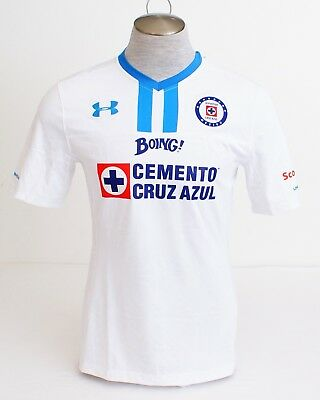 9339644e4af Under Armour White Cruz Azul Short Sleeve Fitted Soccer Jersey Men's NWT
