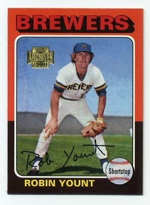 1975 Topps ROBIN YOUNT Rookie RC #223 Milwaukee Brewers - 2001 Archives REPRINT