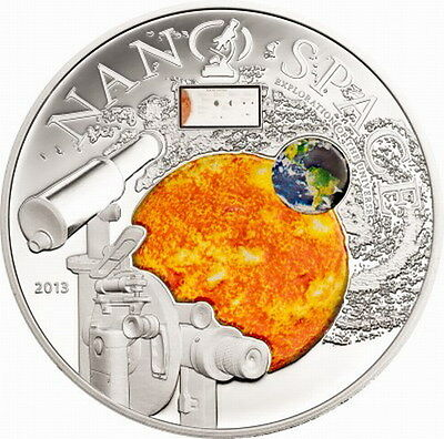 Cook 2013 Nano Space 10 Dollars Colour Silver Coin,Proof