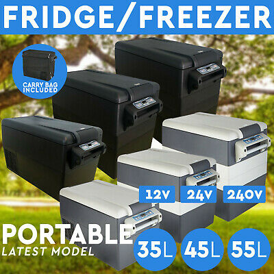 35L 45L 55L Portable Fridge Freezer 12V/24V/240V Camping Car Boating Caravan Bar