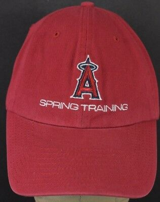 3766d9f7ac72da ... where to buy red mlb los angeles angels logo embroidered baseball hat  cap adjustable strap f271b