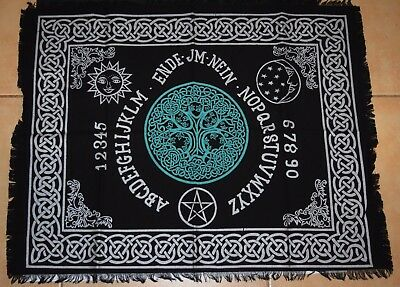 Ouija board Mat celtic spirit communication weejee talking Spiritual  29cm