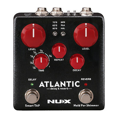 Nux NDR5 Atlantic Delay and Reverb Effects Pedal - New