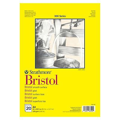 Bristol smoth  paper pad A4 20 sheets 270gsm Strathmore 300 drawing
