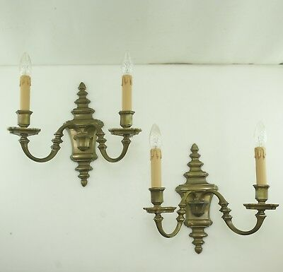 Antique Baroque Style Wall Lights Brass Large for 1930 36cm High 5,2 kg