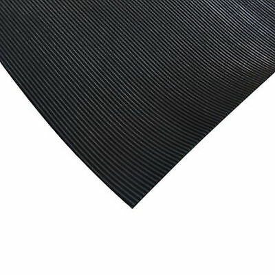 FINE RIB Non Slip Rubber Sheet Garage Rubber Flooring Roll Matting 3MM THICK