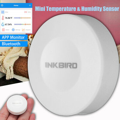 INKBIRD Digital Bluetooth Mini Data Logger Recorder Temp & Humidity Sensor APP