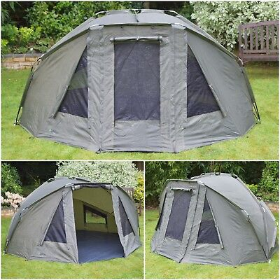 Quest Compact Carp Fishing Bivvy 1 2 Man Overnight Shelter Tackle Brolly