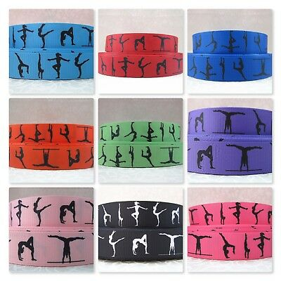 Grosgrain Ribbon - 1.5 inch - 38 mm - Print by the Metre - Gymnastics / Gymnasts