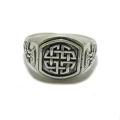 Genuine sterling silver Celtic men's ring hallmarked solid 925 Knot R001788