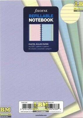Filofax Refillable NOTEBOOK Refill - A5 size - Pastel Ruled Paper 152018