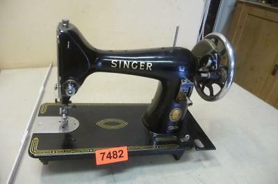 Nr. 7482.  Alte Nähmaschine SINGER Old Sewing Machine