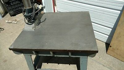 "42"" x 43 x 9"" Cast iron Surface Plate Precision Steel Layout setup die Table Top"