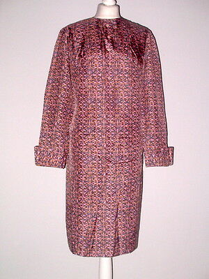60er Jahre 60 S Sixties Modell Etui Kleid Dress Grau Rosa True