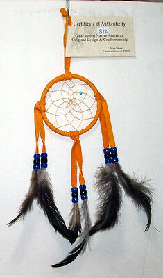 "Authentic Native American Dreamcatcher Gold 3"" hoop FREE SHIPPING #812"