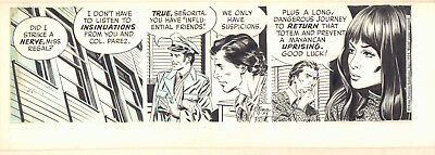 Secret Agent Corrigan Daily Strip - 9/14/1974 Signed art by Al Williamson