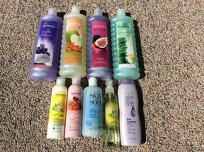 9 Avon Items - 4 Bubble Bath Plus Body Lotion & Body Wash & Body Spray
